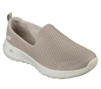 Taupe Slip On Skechers Shoes Go Walk Joy Women Soft Casual Wide Fit Mesh 15600