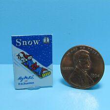 Dollhouse Miniature Replica of Book Dr Seuss Snow ~ B103