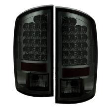 Dodge 07-08 Ram 1500/2500/3500 Smoke LED Rear Tail Lights Brake Lamp Set