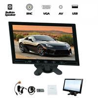 "10"" CCTV LCD Monitor PC Screen VGA+AV Video Display Speaker Input Security"