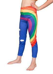 Printed girls rainbow pants :: FREE DELIVERY