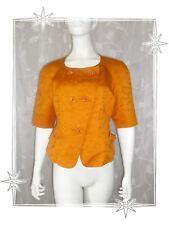 Magnifique Veste Blazer Courte Orange Christian Lacroix  Bazar Taille 40 / 42