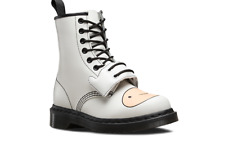 Doc Marten smooth Vanilla White Adventure Time Finn lace up boot size UK10 US11M