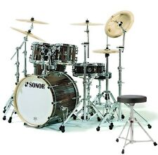 SONOR S Classix SC Stage 3 Ebony Set Schlagzeug + Hocker