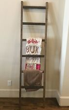 Rustic Handmade Weathered 7 Foot Wood Blanket/Quilt/Towel Ladder FREE US SHIP!!