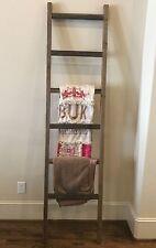 Rustic Handmade Weathered 6 Foot Wood Blanket/Quilt/Towel Ladder FREE US SHIP!!