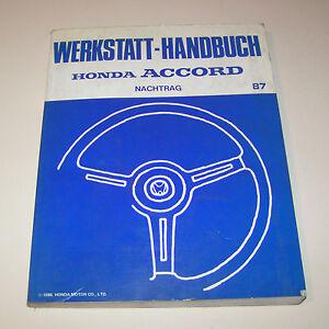 Manual de Taller Honda Accord - Complemento Stand 1987