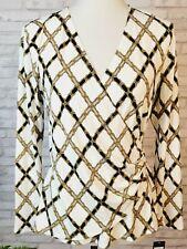 Adrienne Vittadini size M wrap look stretch top equestrian style original tags