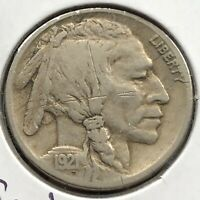 1921 S Buffalo Nickel 5c Higher Grade VF Details Strong Date #17583