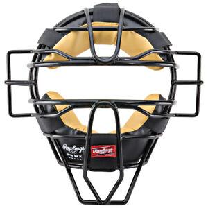 Rawlings High Visibility PWMX Wire Baseball/Softball Umpire Mask - Black