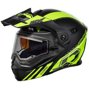 Castle X Matte Hi-Vis EXO-CX950 Task Snow Helmet w/Electric Shield-45-29536 LRG
