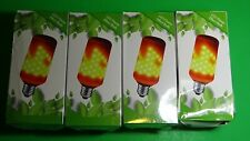 LED Flame Effect Fire Bulbs E27 Decorative Lot of 4 NEW