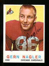 Gern Nagler Signed 1959 Topps #93 Autographed Cardinals 22542
