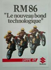 Prospectus Catalogue Brochure Moto Suzuki Gamme RM 1986