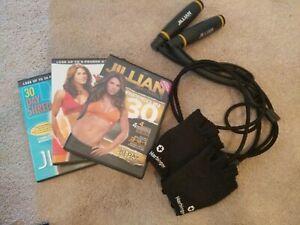 Jillian Michaels & Taebo Workout DVD Lot & Accessories