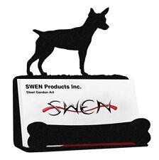 Swen Products Rat Terrier Dog Black Metal Business Card Holder