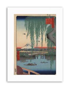 UTAGAWA HIROSHIGE JAPANESE 100 VIEWS EDO 062 Canvas art Prints