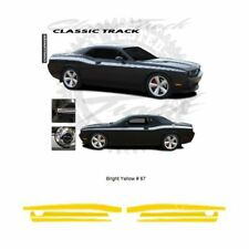 Dodge Challenger 2011+ Track Style Side Stripes Graphic Kit - Bright Yellow