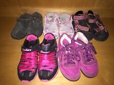 Lot 5 Girls Shoes 2 Merrell Pink Teva Clogs Fitflop Gray Sandals Sketchers Black