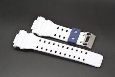 16MM WHITE BLUE RUBBER WATCH BAND CASIO GSHOCK GA300 GA100 GW8900 GA120 GD110