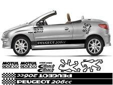 Peugeot Pug 206cc Kit x14pc gráficos pegatinas 106 107 205 206 306 307 308 406