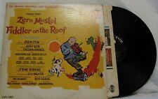 THE SOUND OF MUSIC VINYL ALBUM LP ORIGINAL BROADWAY CAST ZERO MOSTEL HAL PRINCE