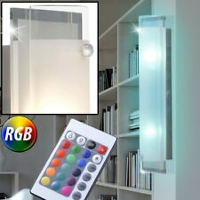 LED Wand Lampe Spiegel Glas Wohn Zimmer RGB Fernbedienung Chrom Leuchte dimmbar