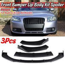Carbon Fiber Look Car Front Bumper Lip Thick For AUDI A3 A4 A5 Q3 8P 5 S3 S4 TT