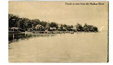 Nyack NY - VIEW ALONG HUDSON RIVER SHORE - Postcard