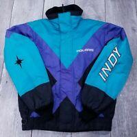 Vintage Polaris Indy Full Zip Jacket Mens Medium Racing Snowmobile Insulated USA