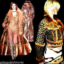 John Galliano Christian Dior Gold Leopard Print Real Fur Jacket