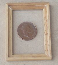 1:12 Scale Wood Picture Frame 4.5cm x 6cm No Acetate Tumdee Dolls House 957L