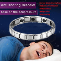 Men's Black Titanium Steel Magnetic Therapy Negative Ion Health Care Bracelet