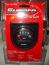 Sunpro 2 Voltmeter 12v Black Black Bezel New