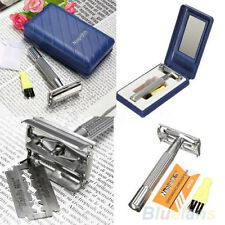 Mens Safety Classic Traditional Double Edge Shave Shaving Hair Blade Razor BB4U