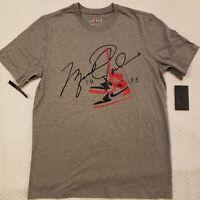 Nike Air Jordan 85 AJ1 Classic Retro Grey Tee Shirt (BQ5538-091) Mens S