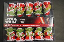 Star Wars Yoda in Santa Suit Christmas Holiday Light Set by Kurt Adler 10 Lights