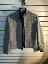 Vintage Women's Jantzen Black Wool Lined Open Front Jacket- Size: 12