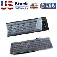 1X  Silicone Desktop Computer Keyboard Cover Skin Protector Film Cover Universal