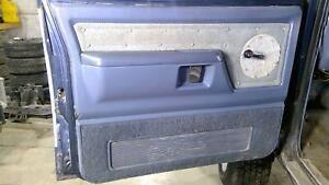81-92 Dodge Ramcharger Driver Left Front Interior Door Trim Panel (Blue)