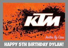 KTM MOTORBIKE MOTORCYCLE A4 EDIBLE IMAGE CAKE TOPPER BIRTHDAY PARTY KIDS ADULTS