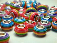 50pcs mix DIY bead lampwork fit European Charm Bracelet Wholesale beads #7