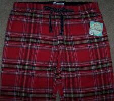 NWT PJ Salvage Brick Red TARTAN Plaid LIGHTWEIGHT FLANNEL Pajama/Lounge Pants M
