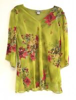 Women's Printed Embellished Polyester Plus Size Tunic Top Blouse 1X-2X-3X NWT