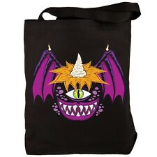 Halloween Flying Purple People Eater Black Candy Tote Bag