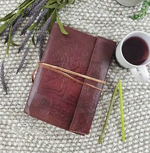 Large Tree of Life Leather Blank Book Journal/Diary  Brown Vintage Style