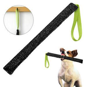 Black Dog Training Tug Aggressive Young Dog Chew Bite Stick Durable Jute Pet Toy