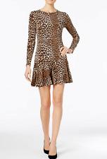 Michael Kors Petite Animal-Print Flare-Hem Dress Size P $125.00