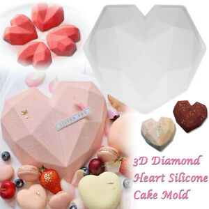 3D Silicone Large Heart Shape Cake Mould Geometric Baking Mold Tool Chocolate