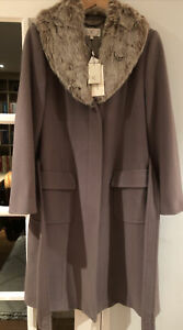 Country Casuals Coat Size 12 Camel Cashmere Blend Bnwt New Rrp £249